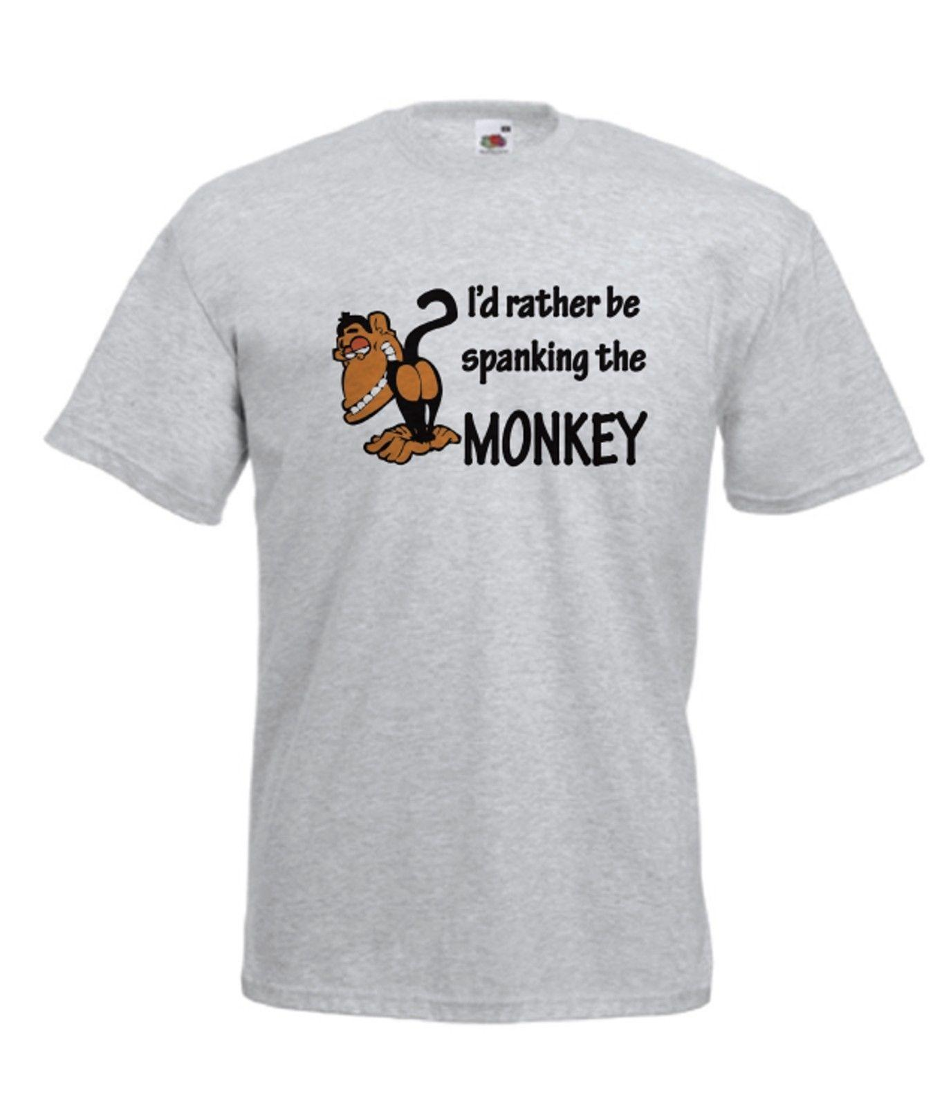 SPANKING MONKEY Funny Fathers Gift Xmas Birthday Gift Ideas Mens Womens T  SHIRTFunny Unisex Casual Tshirt Gift Funky T Shirt Design T Shirt Every Day  From ...