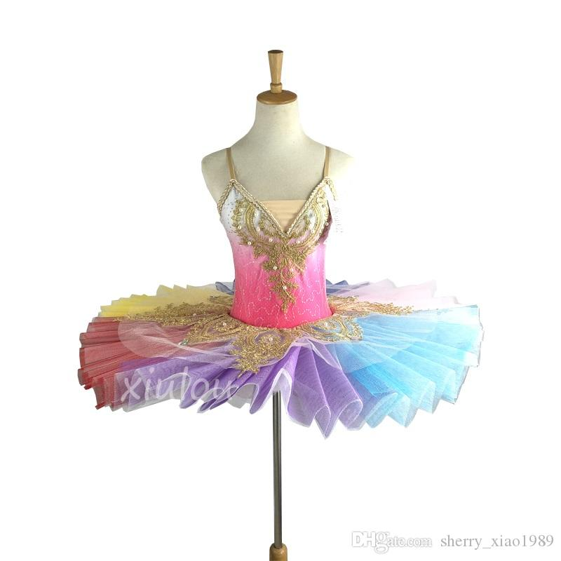 d220c4e10347 Professional Swan Lake Ballet Tutu Costume Girls Children Ballerina ...