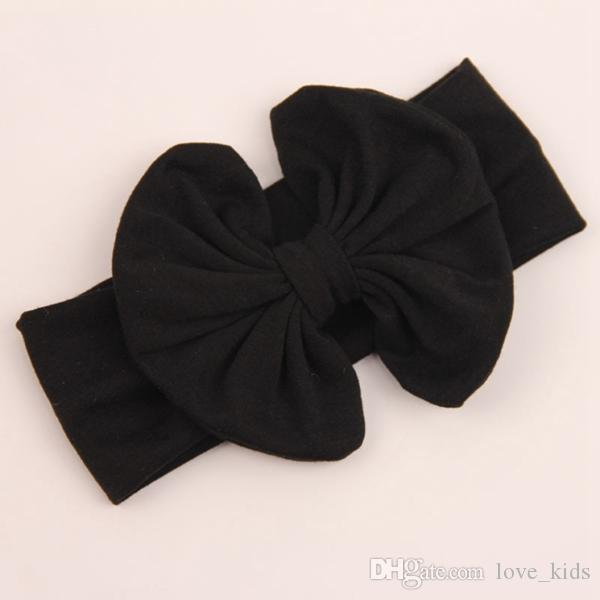 solid color baby headband new style newborn pure color big bowknot hair accessories infant toddler heandbands kids hairband