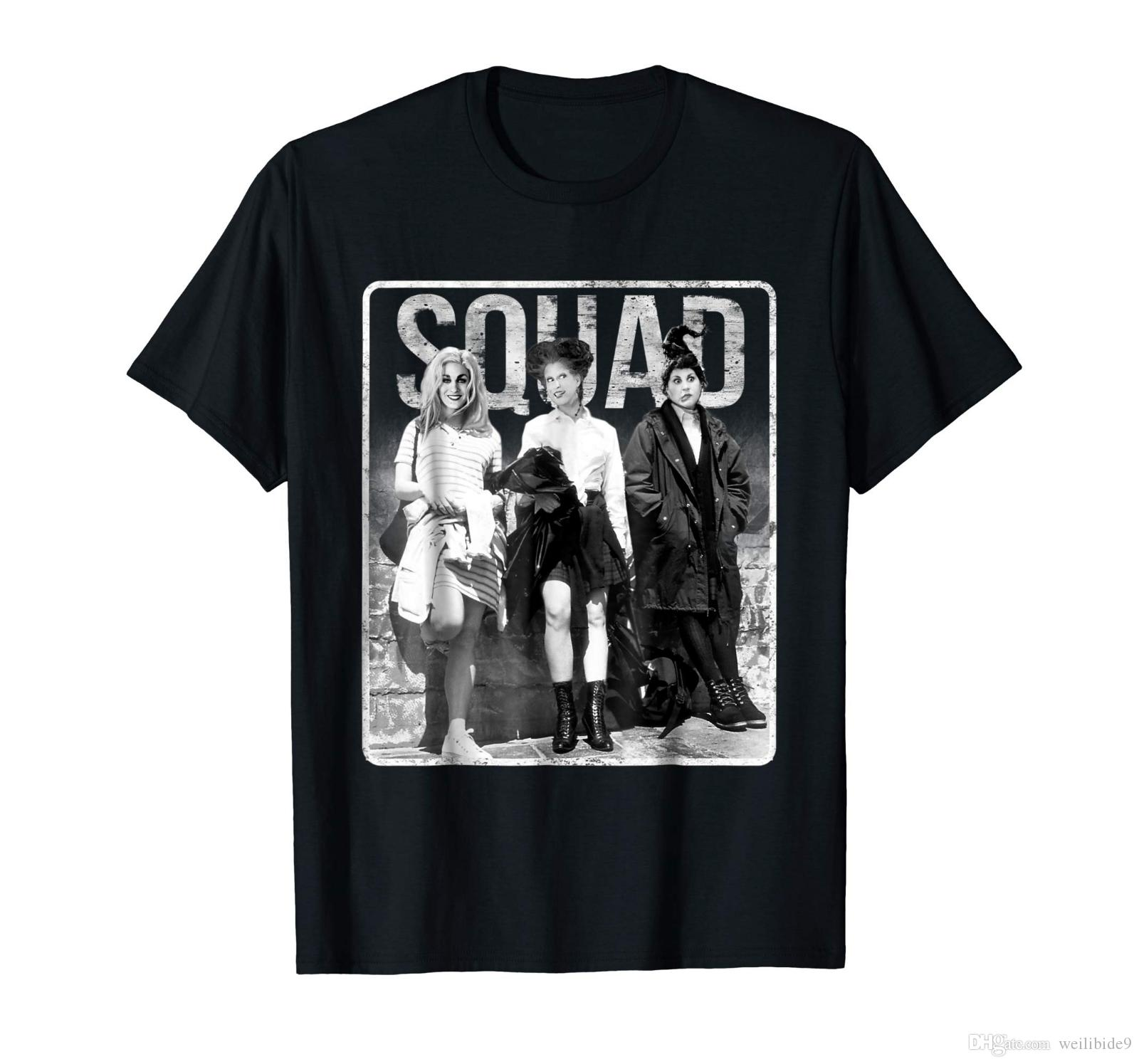 d821fc28c56 Squad Hocus Pocus Squad Goals Sanderson Sisters Halloween Funny Black T  Shirt Sale 100 % Cotton T Shirt TOP TEE Funny Ts T Shirts Buy From  Weilibide9
