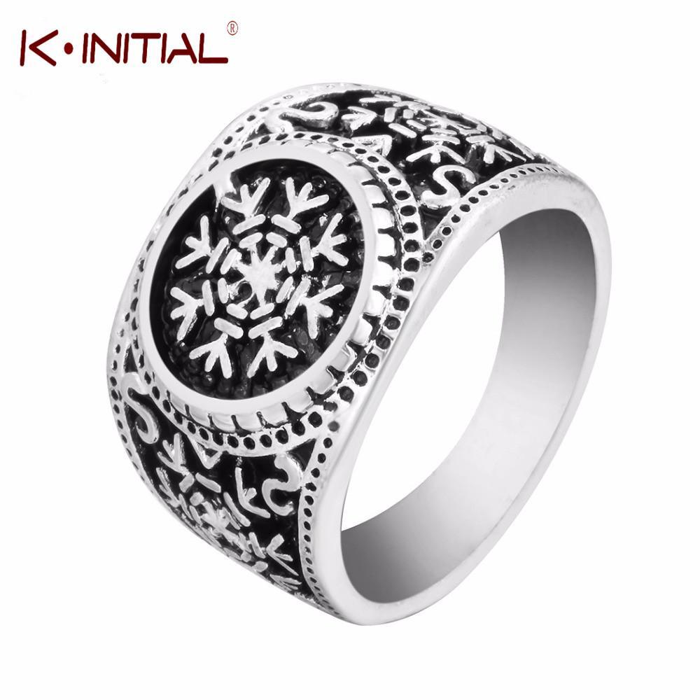 Grosshandel 2018 Slawische Symbol Schneeflocke Ringe Amulett Nordic