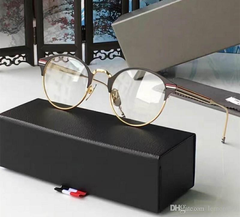abf68e4352c Brand Eyeglasses Frames Men Round Vintage Optical Glasses Eyeglasses ...