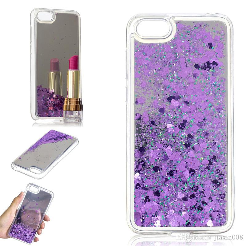 detailed pictures 985c7 2fa7b Cover For Huawei Y5 2018 Case Quicksand Flash Glitter Powder Mirror Hard  Phone Cases Covers For Huawei Y5 Prime 2018