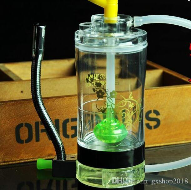 Acrylic comes with a fire Hookah, Send pot accessories, glass bongs, glass water pipe, smoking, color models shipped