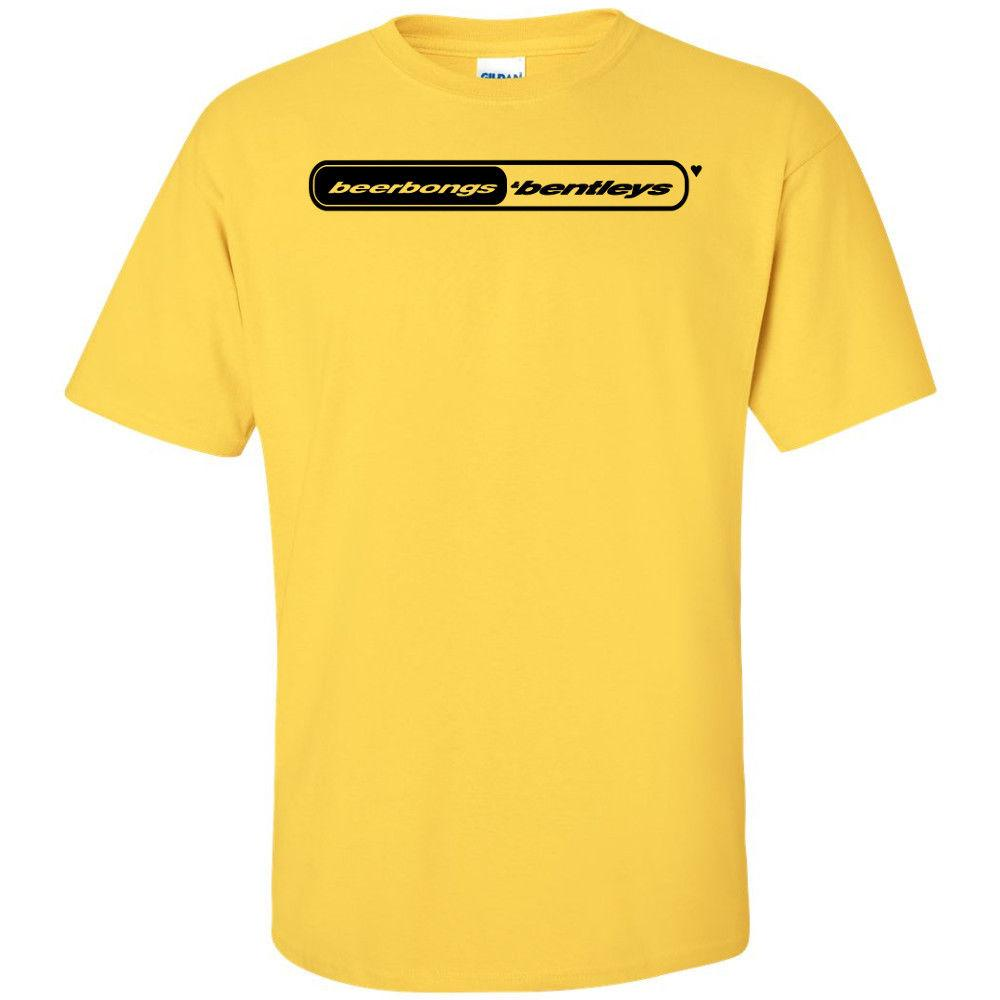 Post Malone Beerbongs and Black Logo T Shirt Stoney b&B Merch Stoney Funny  free shipping Unisex Casual tee top
