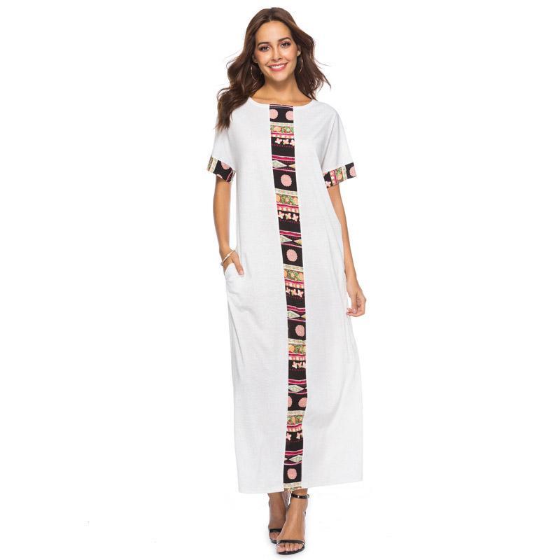 21ef80da8c 2018 Womens Dress Plus Party Size Bohemian Night Club Sexy Dress Long Maxi  Vintage Boho Festival Dresses Clubwear Clothing
