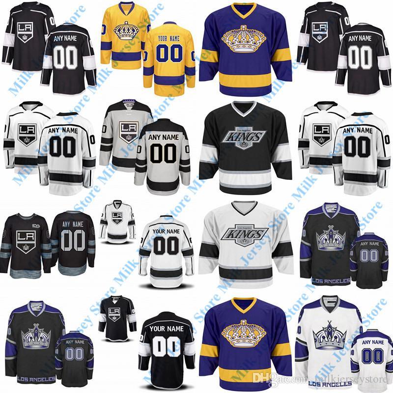 605907270 ... wholesale 2019 custom los angeles kings hockey jerseys white black gold  grey purple home away 4