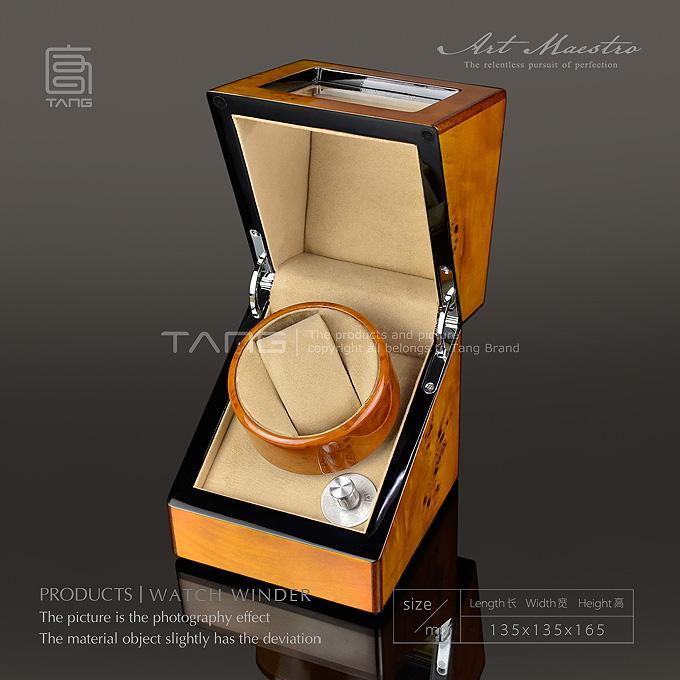 Tang Wood Watch Winders With Decorative Pattern Fashion Mechanical ... 1c5990f0b8