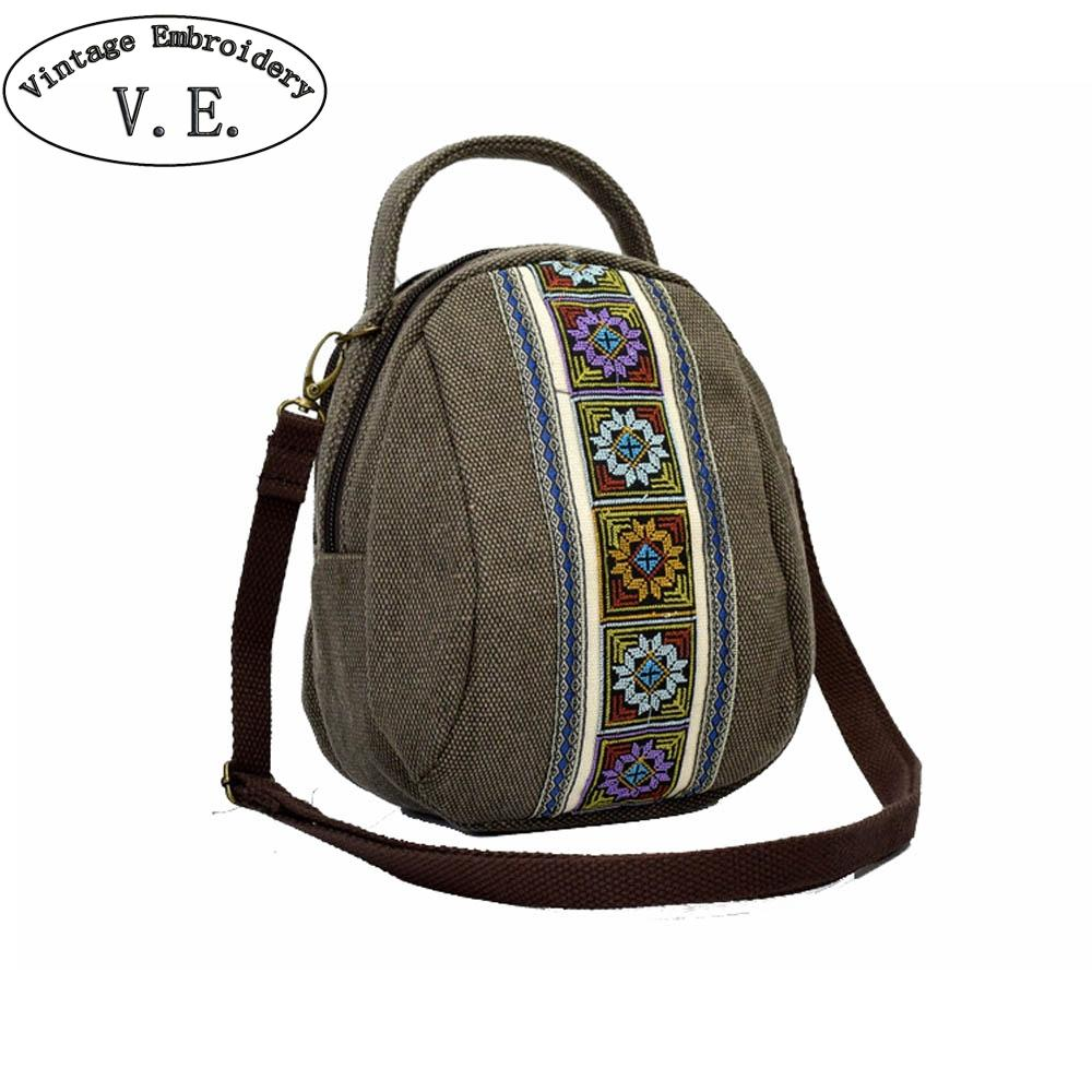 9fbf8b2486 2019 New Women Messenger Bags National Embroidery Mini Shoulder Bag Mobile  Phone Coin Purse Bag Small Canvas Crossbody Bags Mens Bags Messenger Bags  For ...