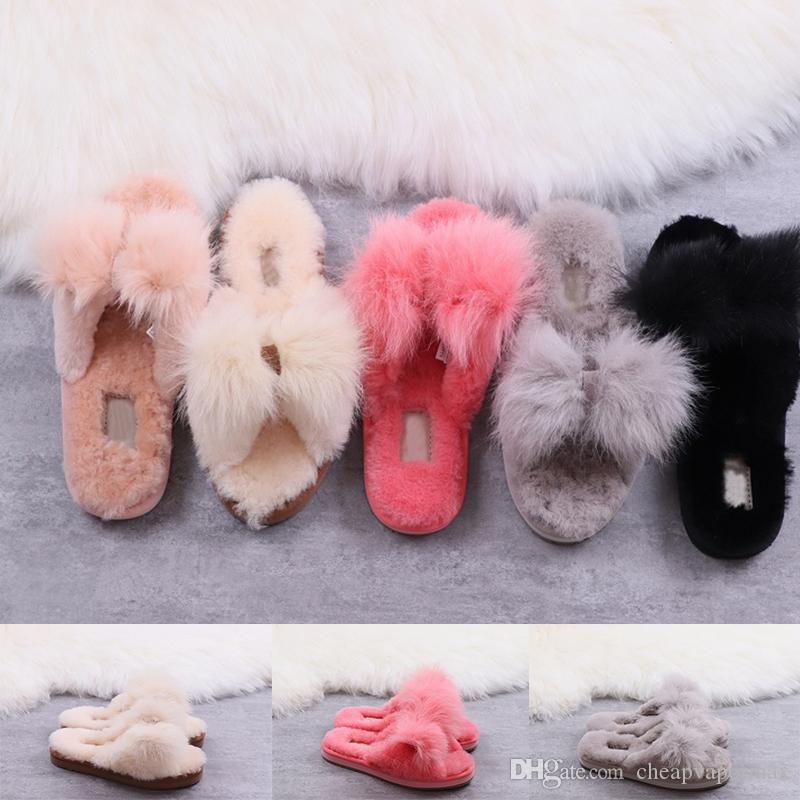 13f9e6402dd Top Quality Italian Mirabelle Slipper Real Fur Slippers Winter Brand  Designer Fashion Loafers Women Mules Shoes Embroidery Fur Slippers