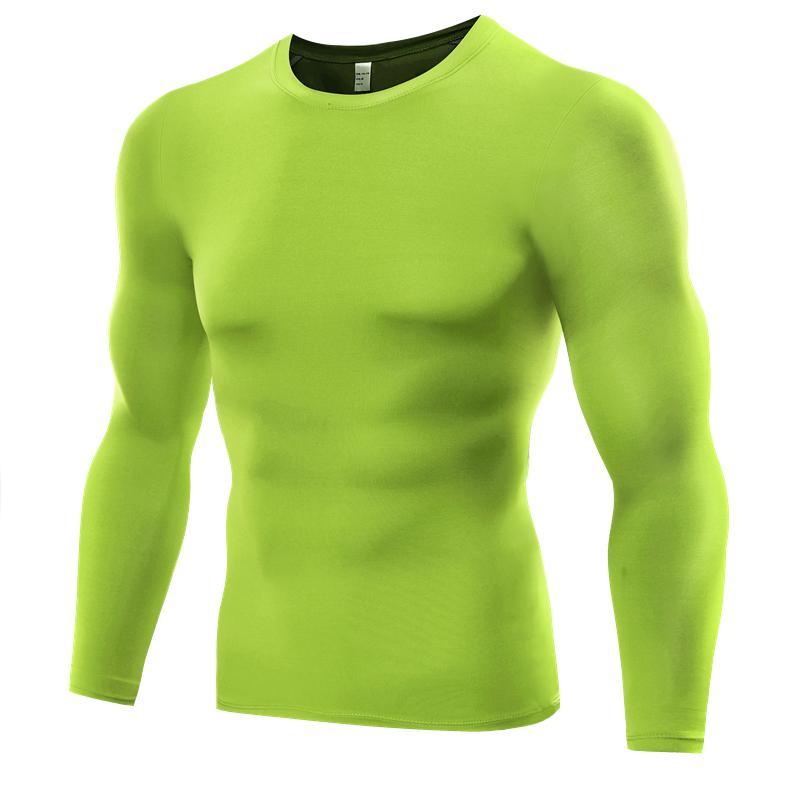 2d0b1dd95e6 Plus Size Men Fitness Shirts Compression Long Sleeve T Shirts Male ...