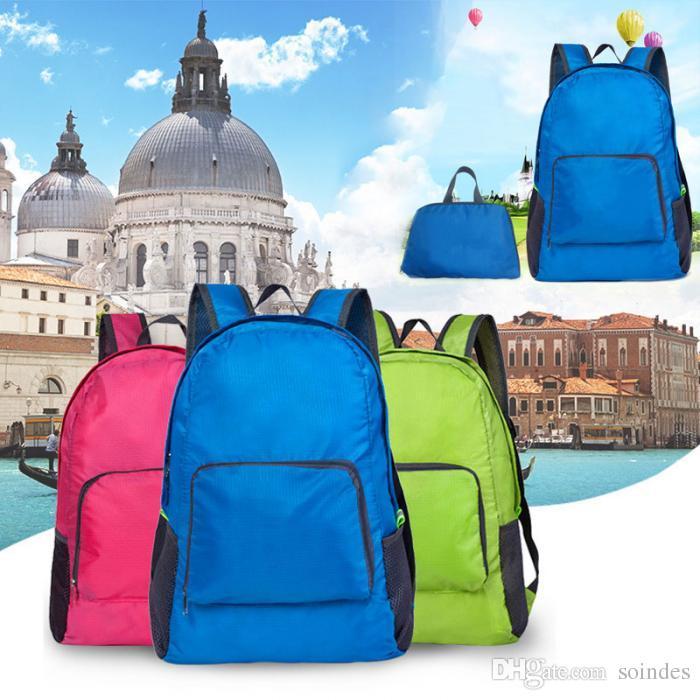 Women Men Backpack Riding Back Pack Bag Ultra Light Folding Waterproof Travel Nylon Bags