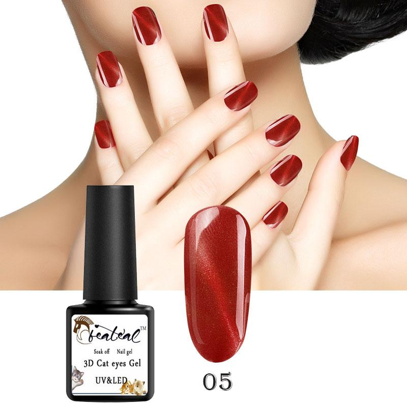 Beateal Gelpolish 3D Red Flame Cat Eye Nail Gel Polish 8ml Colors Gel  Varnish Double Headed Magnet DIY Manicure Vernis Lacquer