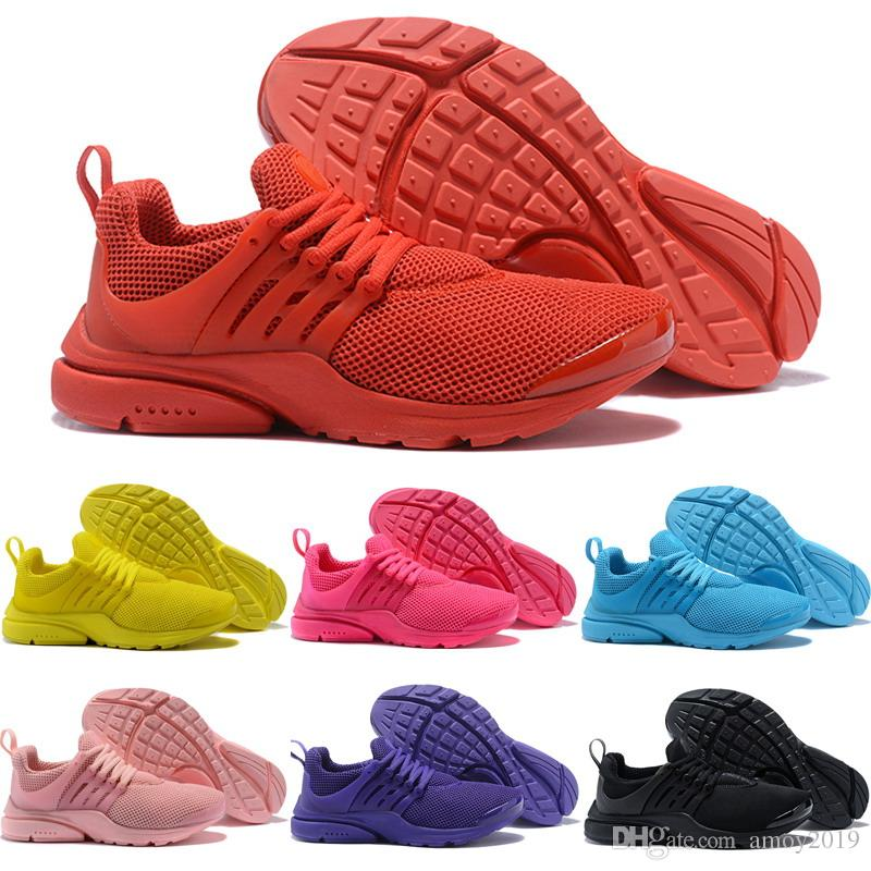 ef9cb1c71309 2018 Presto Running Shoes Men Fly BR QS Yellow Prestos Pink Oreo Outdoor  Jogging Air Sole Mens Womens Trainers Sports Sneakers Eur 36 45 Spikes Shoes  Best ...