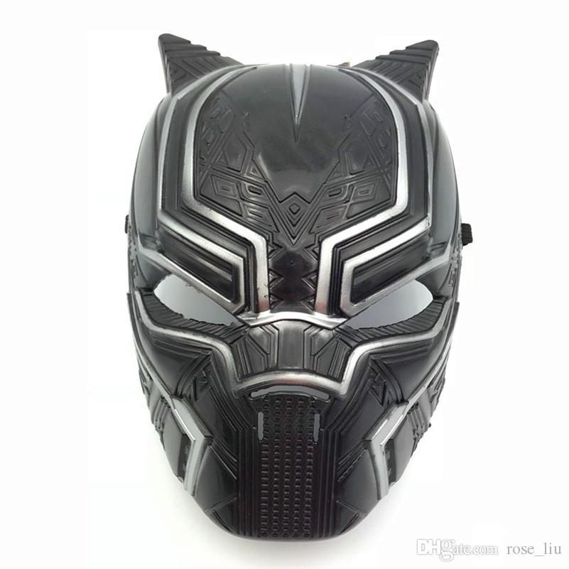 Captain America 3 Black Panther mask 2018 New Avengers Children's adult Halloween party Cosplay Plastic headgear Masks Toys B