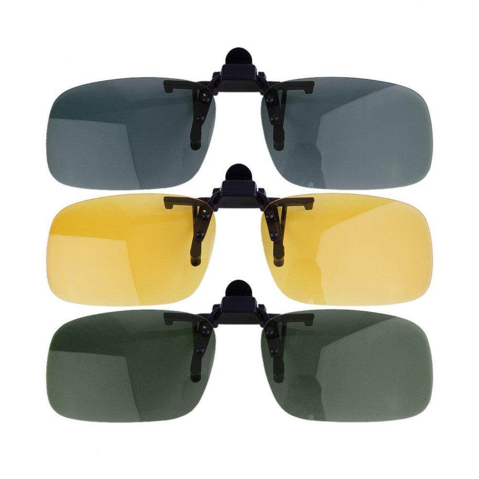 9514f8b7d2da72 New Driving Night Vision Clip On Flip Up Lens Sunglasses Cool Eyewear Clip  On Lens Anti UV 400 Unisex For Women   Men Best Polarized Motorcycle Goggles  Best ...