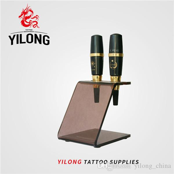 YILONG New Acrylic Eyebrow Machine Holder Stand Rack Tattoo Guns Rest Organzie Kit Supply