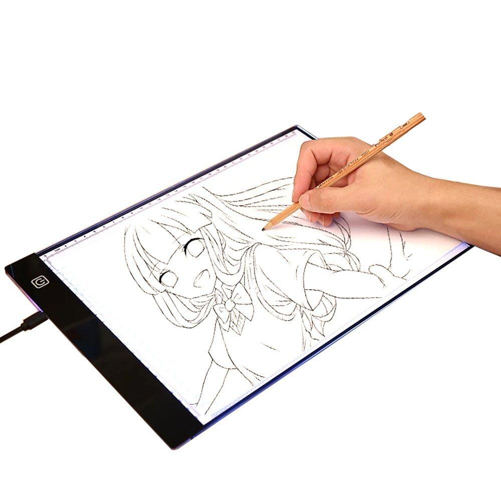 Ultrathin A4 Quality Pratical 4mm Drawing Copy Board Animation Copy Tracing Pad Board LED Light Box Without Radiation fast ship