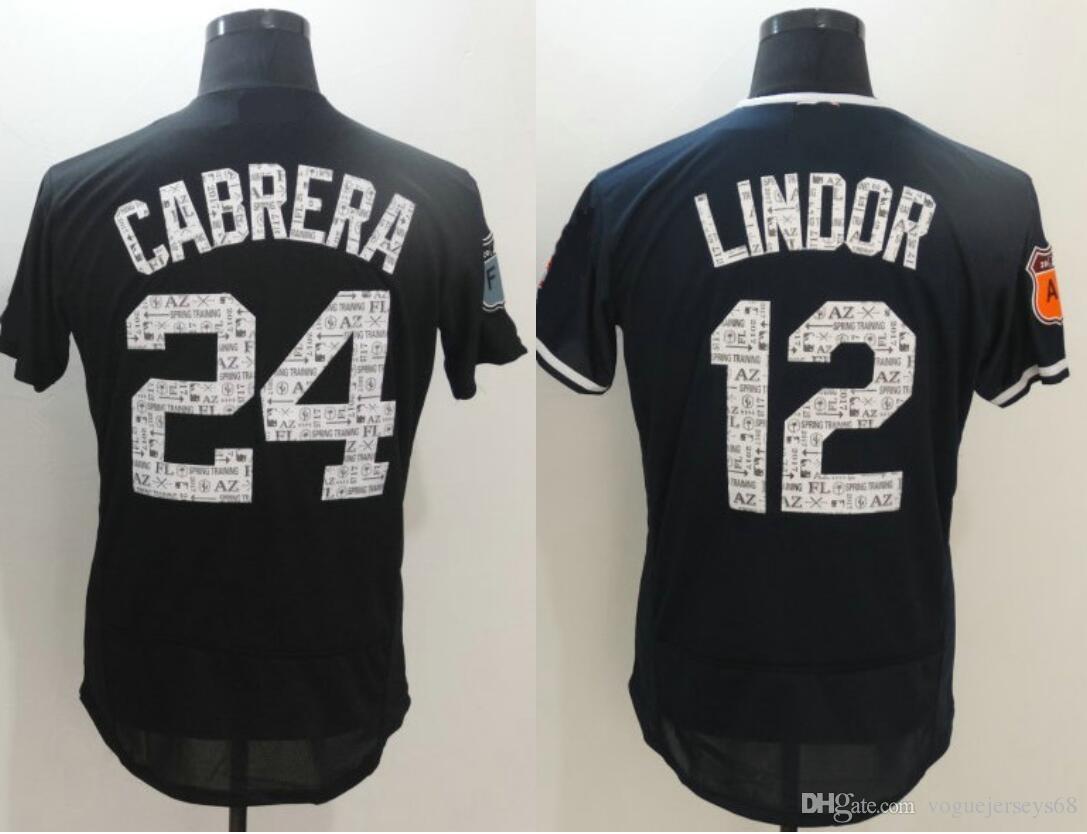 Mens Spring Training Detroit 24 Miguel Cabrera  12 L I N D O R Stitched  Embroidery Baseball Uniforms Shirts Sports Elite Team Jerseys Baseball  Shirts Cheap ... 8d8c1407b