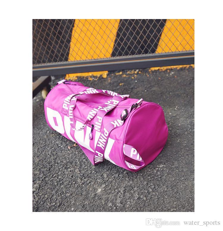 Brand design duffel bags black love pink storage bag big large men women travel hangbag waterproof luggage bags