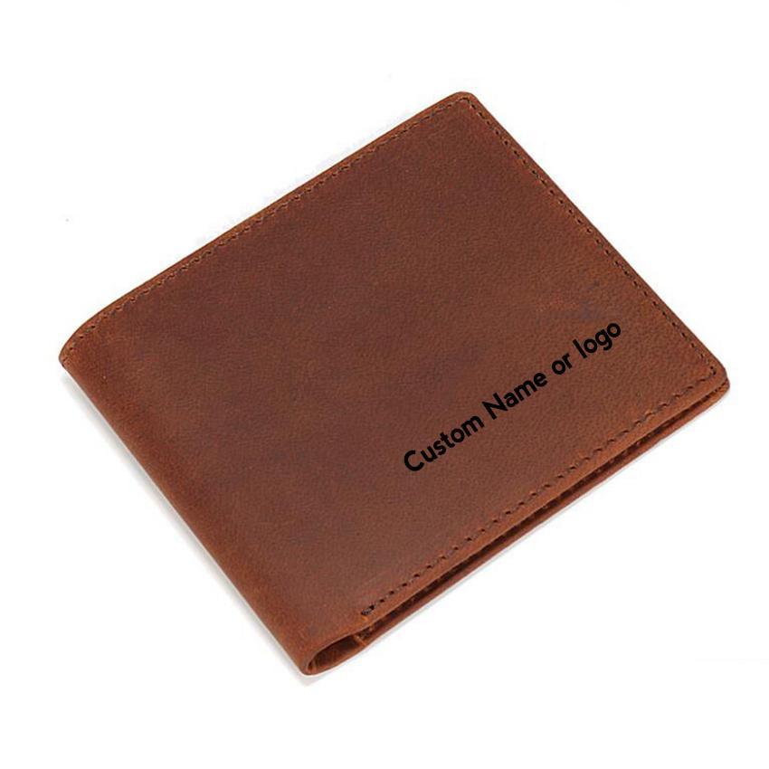 378855487 Compre Nome Personalizado Ou Logotipo Carteira Masculina Multi Titular Do  Cartão Sacos Homens Pequena Bolsa De Bolso Carteiras De Couro Genuíno  Cartão RFID ...