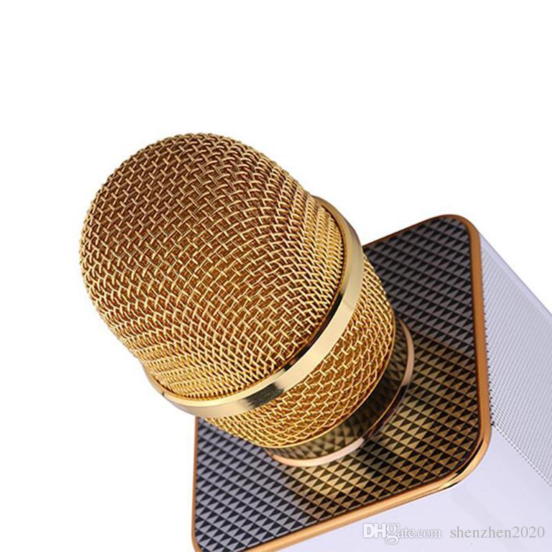 Magic Q9 Bluetooth Micrófono inalámbrico Micrófono de mano KTV con altavoz Mic Altavoz Karaoke Q7 Actualización para el teléfono Android