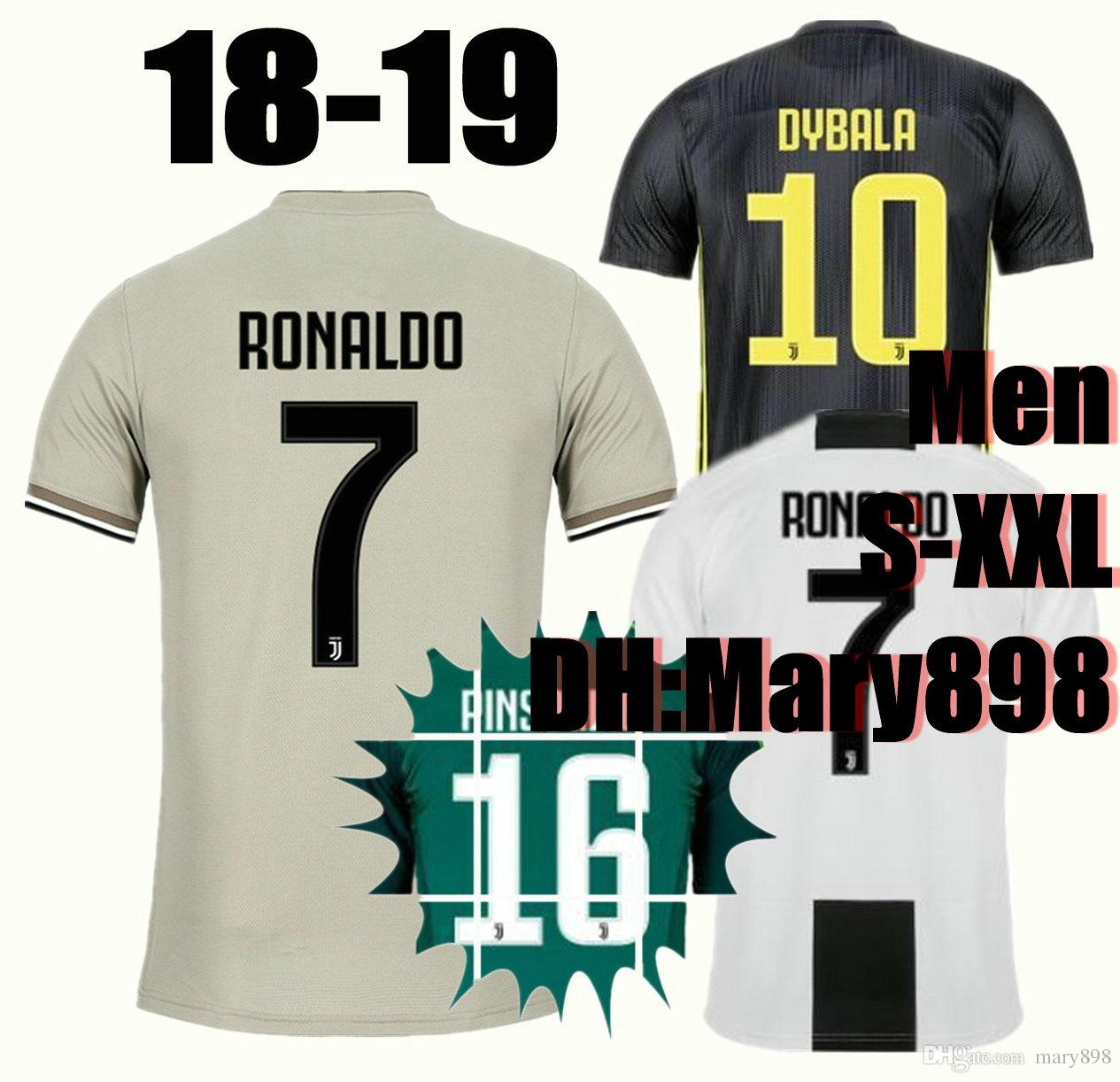 0e5b1d1d174 Top Thai Quality 18 19 RONALDO Home Soccer Jerseys 2018 2019 Away ...