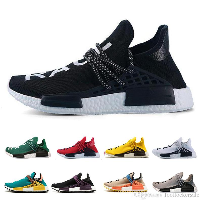 fed1aa34dcd46 2019 Nmd Human Race HU Running Shoes Pharrell Williams For Men Women Nmd  Runner Top Quality Designer Luxury Brand Sports Sneakers Size 36 47 From ...