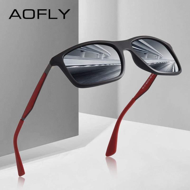 d2d30e97fe AOFLY BRAND DESIGN Classic Polarized Sunglasses Men TR90 Square Frame Sun Glasses  Male Driving Goggles UV400 Eyewear AF8082 Sunglasses Cheap Sunglasses ...