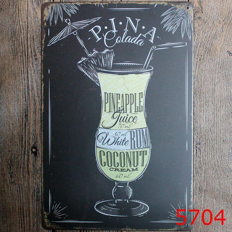 Bière Pub étain signe Mur Décor Vintage Artisanat Art Fer Peinture Étain Affiche Café Boutique Bar Club Accueil Décorer H396w