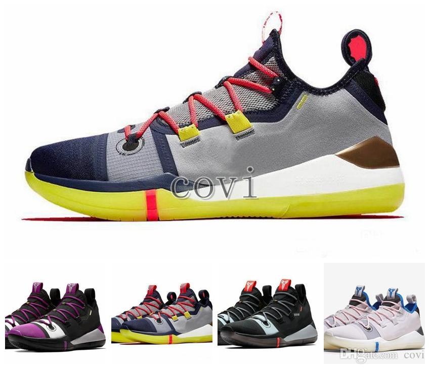 e748aaf00588 2018 New Release Kobe A.D. EP Mamba Day Mens Basketball Shoes Sail Multi  Color Yellow Sneakers Kobe Bryant Athletic Sports De Basket Ball Mens  Basketball ...