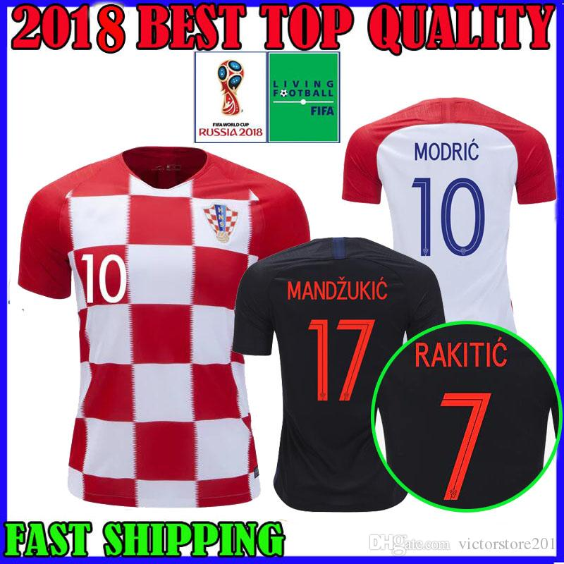Copa Del Mundo Camiseta De Fútbol De Croacia Croacia 2018 Hogar Lejos 18 19  MODRIC MANDZUKIC KRAMARIC KOVACIC RAKITIC PERISIC Camisetas De Fútbol De  Calidad ... b42a4298fcefc