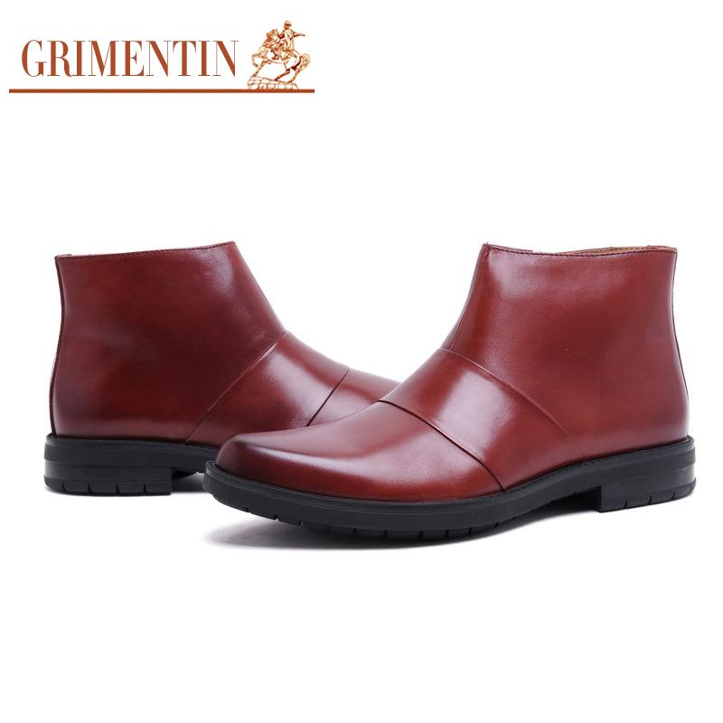 Grimentin Fashion Uk Unique Mens Shoes Casual Winter Boots Genuine