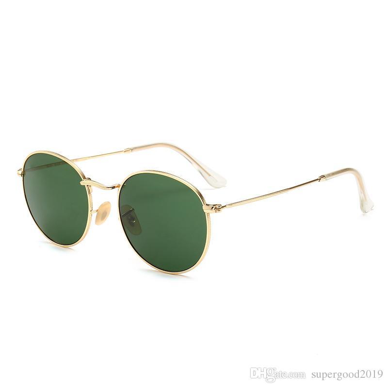 18669cd68fa1 Classic Pilot Sunglasses Men Women UV400 Brand Designer Glass Mirrored  Eyewear Unisex Sunglasses Gafas Oculos De Sol Driving Sun Glasses Sunglasses  For ...