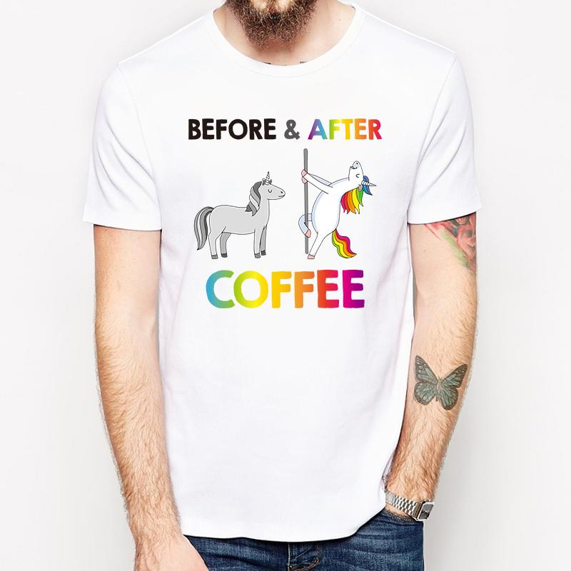 bdf3804d Funny Unicorn Need More Coffee Design Men T Shirt Fashion Cartoon Printed T  Shirt Short Sleeve Tee Hipster Cool Tops P30 Funny Team Shirts Trendy T  Shirts ...