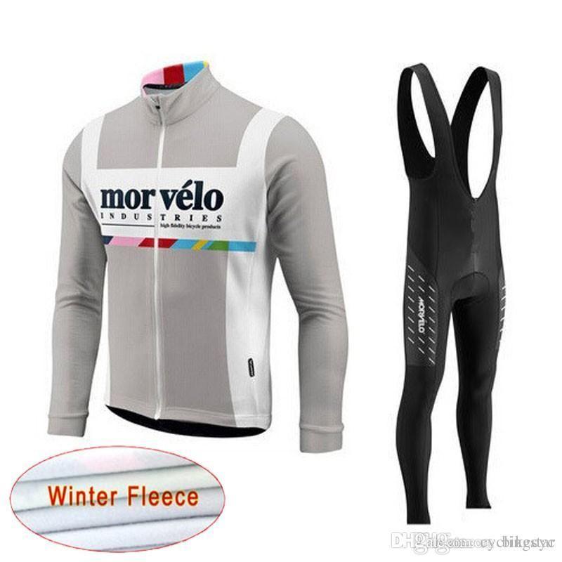 6d32a9685 Morvelo Team Cycling Winter Thermal Fleece Jersey Bib Pants Sets New ...