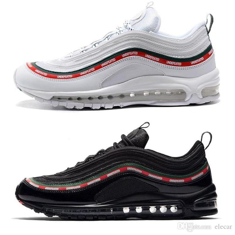 huge selection of ef857 fe425 Scarpe Sneakers 2018 New 97 OG Classic Scarpe Da Corsa Uomo Donna Sneaker  Nero Suola Grigio Oro Con Cuscino Taglia36 45 Scarpe Comode Da Elecar, ...