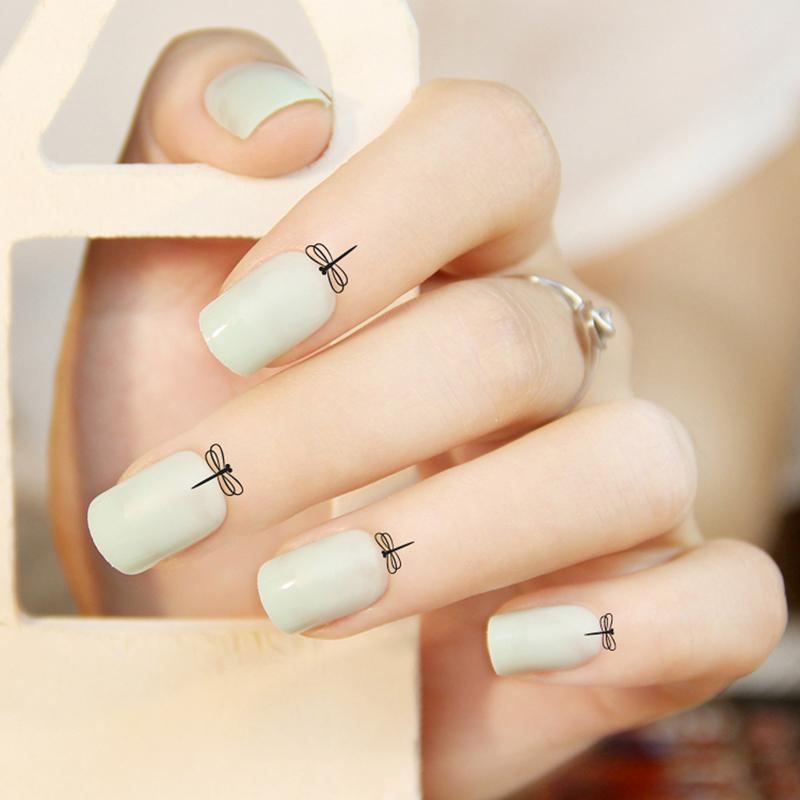 Nail Art Transfer Foils 1 Cute Cuticle Tattoo Sticker Butterfly Designs  Nail Arts Transfer Foils Water Decal Vernis A Ongle UV Gel Nail Polish Sticker  Nails ... a0083f5f2efe