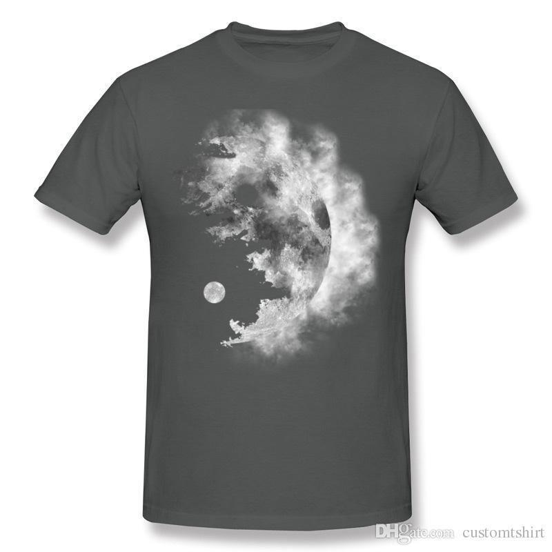 2017 Mens Cotton Fabric Ying Tee-Shirt Mens Crew Neck Black Shorts Sleeve Clothes Big Size Custom Tee-Shirt