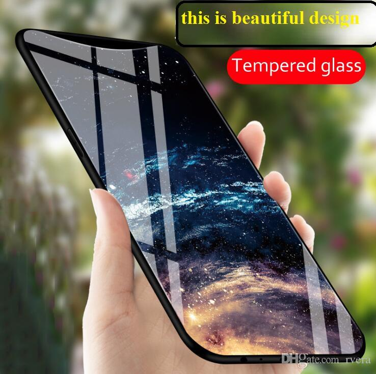 separation shoes f2b17 292d1 Free Shipping Starry sky Tempered Glass Cases for OPPO Find X FindX Case  6.42 Luxury Colorful Smooth Cover for OPPO FindX Bumper Shell