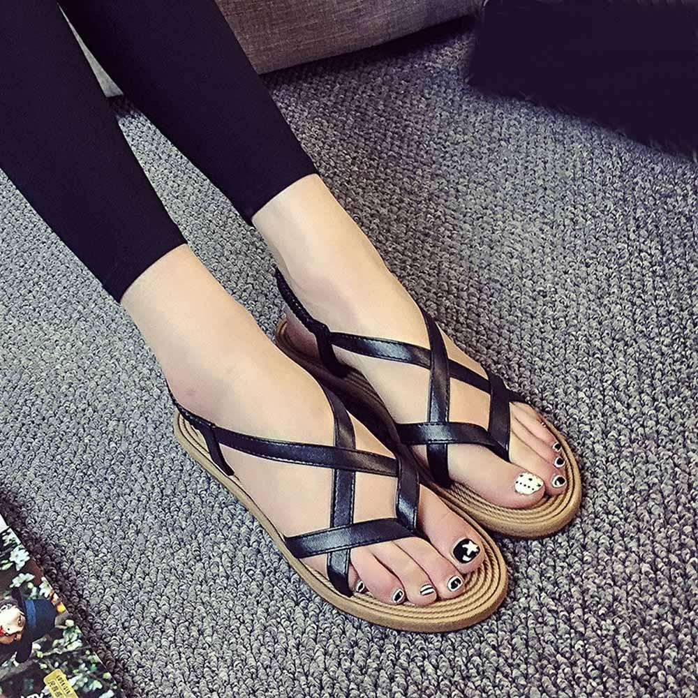 Sandals Women Flat Shoes Beaded Bohemia Leisure Sandals Peep-Toe Flip Flops Shoes Zapatos Mujer Chaussures Femme ete 2017