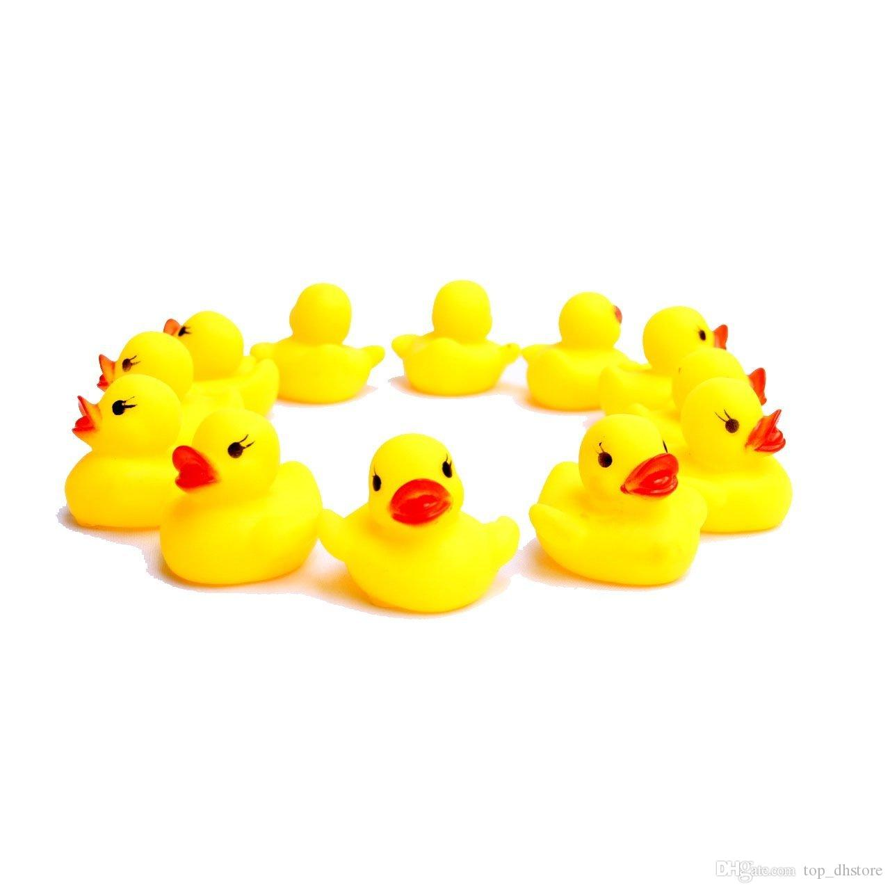 Yellow Rubber Ducks Can Float On The Water And Squeak Mini Duck Baby ...