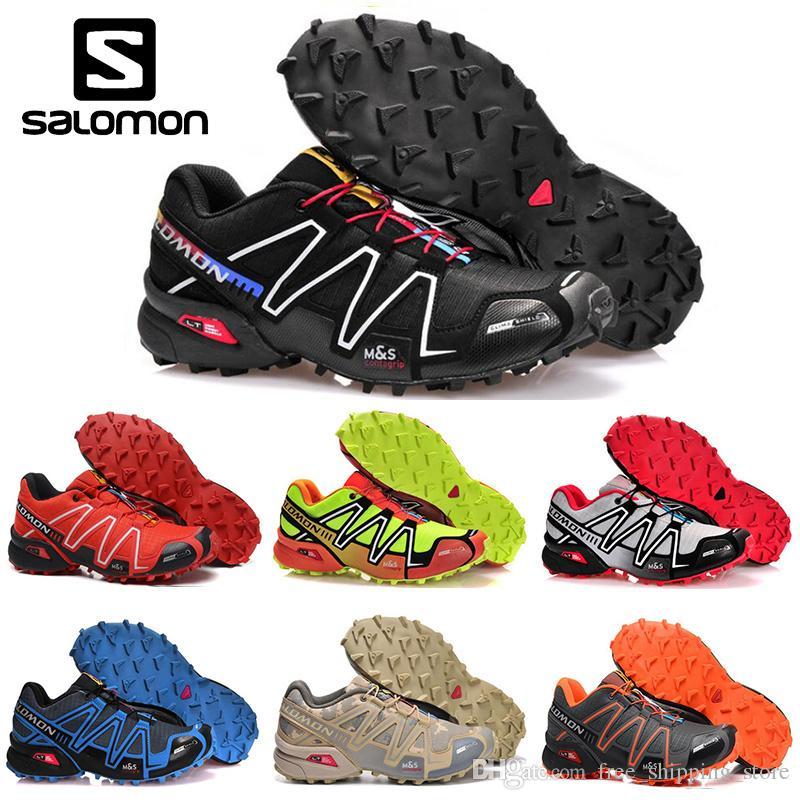 pretty nice 26472 9f947 Acheter Original Salomon Speedcross 3 CS Hommes Chaussures De Course Noir  Sable Hommes Sneakers Légères Zapatos Étanche Sport Athlétique Pointure 40  46 De ...