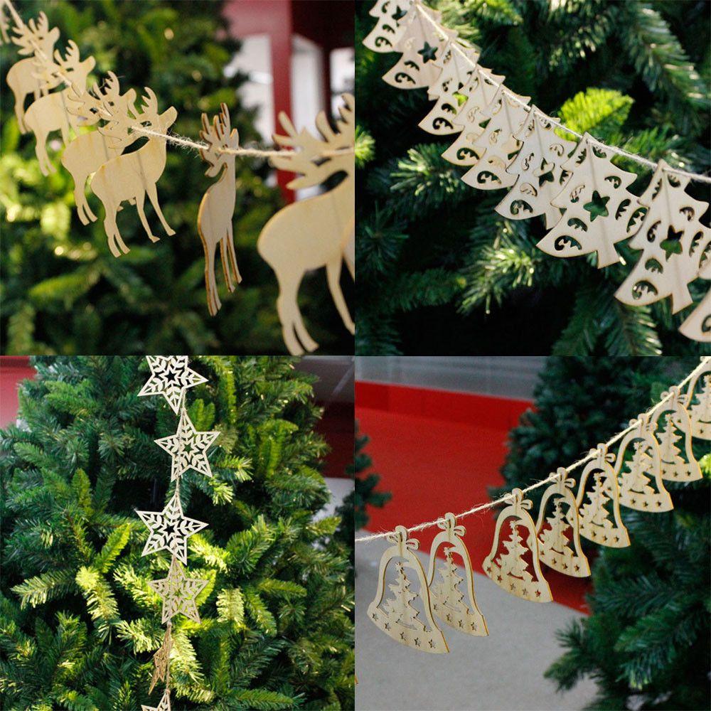 Cute Elk Star Old Man Snowman Christmas Wood Small Pendants Chip ...