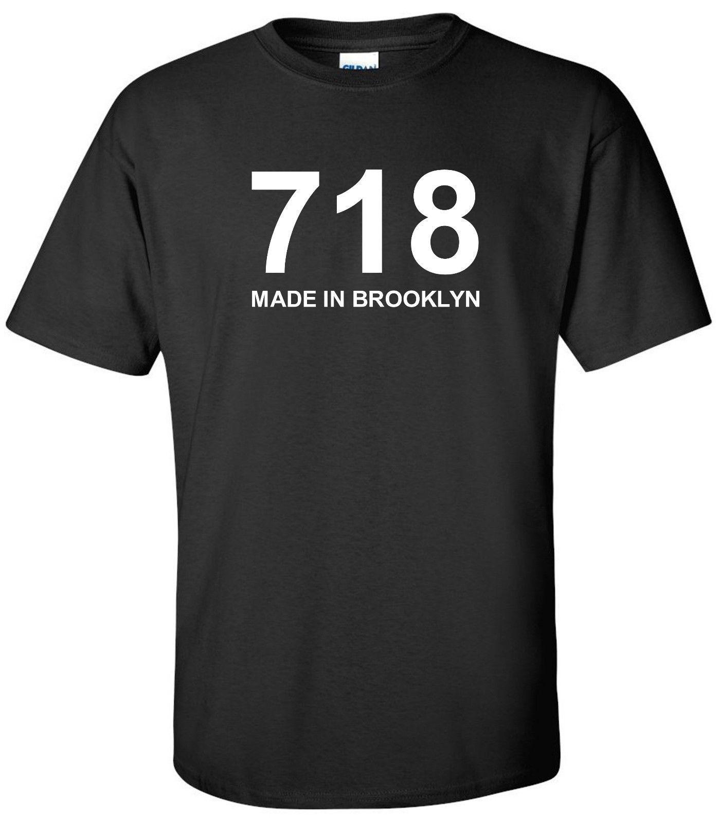 4ba74cad0 MADE IN BROOKLYN 718 T SHIRT AREA CODE NY NEW YORK CITY BLACK TEE SHIRT  Funny Unisex Casual Tee Gift T Shirt Logos Trendy T Shirts From  Noveltgifts, ...