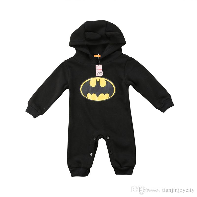 0485efcccad9 Spring Autumn Cute Newborn Kids Baby Boys Girls Hooded Romper Toddler Long  Sleeve Jumpsuit Playsuit Clothes Outfit