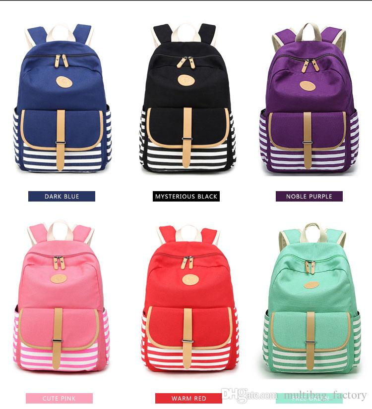 57e08f9366b7 Girls Canvas School Backpack Bookbag College Bags Rucksack Laptop Casual  Fashion Travel Daypack New For Teen Girls Ladies Women Cute Backpacks Hand  Bags ...
