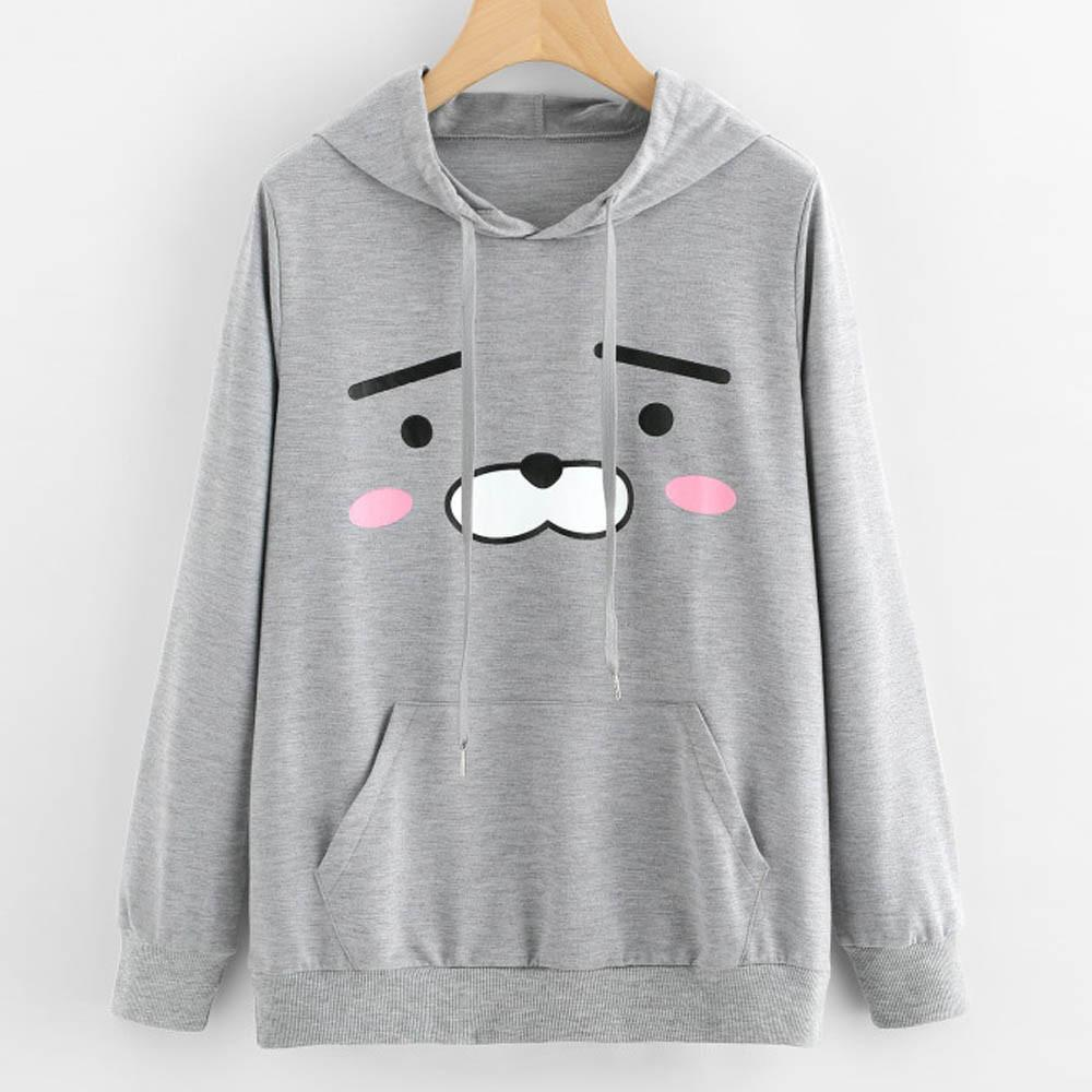 58c8012804d7 2019 2017 New Fashion Womens Sweatshirt Long Sleeve Casual Graphic Print  Hoodie Sweatshirt Cute Cartoon Hooded Pullover Tops Blouse From Liasheng10