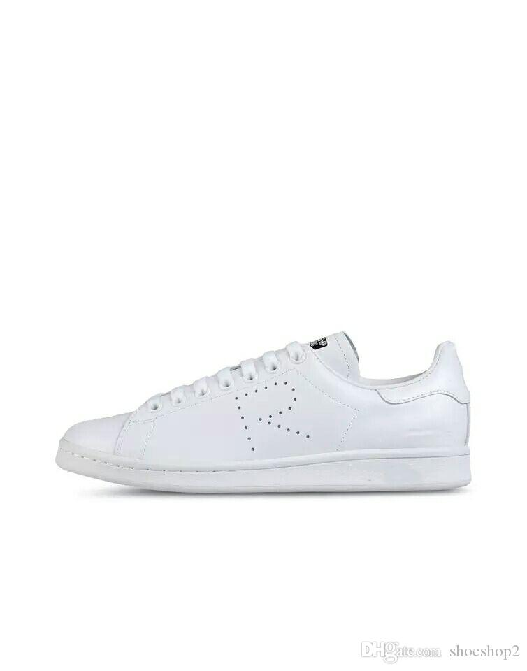 huge selection of 0bb42 b6333 2018 Raf Simons Stan Smith Spring Copper White Pink Black Fashion Shoe Man  Casual Leather brand woman man shoes Flats Sneakers.