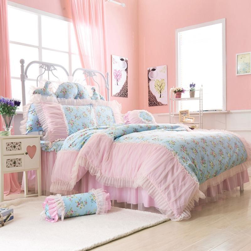 DHL Free Shipping Luxury Princess bedclothes 100%cotton bedding set  HomeTextile bedspread super king queen full size bedroom set